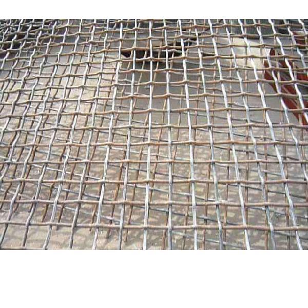 盘条轧花网|矿筛网|黑钢轧花网