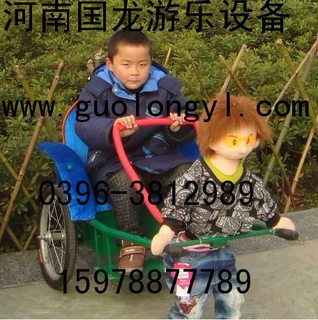 熊系列机器人拉车,机器人拉黄包车