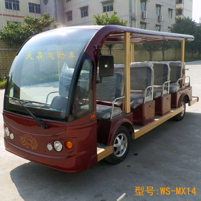 深圳四轮电动观光车14座电动观光车