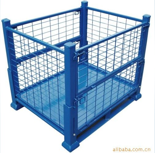 金属周转箱、折叠式仓储笼,周转筐,仓库笼、折叠笼,铁制周转箱、金