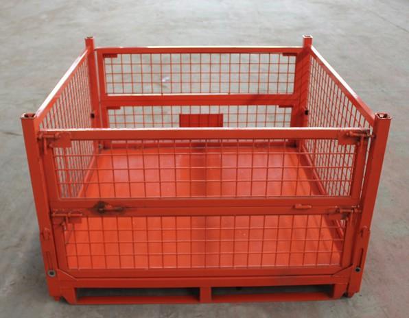 金属周转箱、折叠式仓储笼,周转筐,仓库笼、折叠笼,铁制周转箱