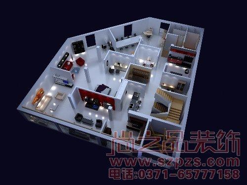 郑州办公室装修,郑州办公室装修设计,写字楼装修效果图