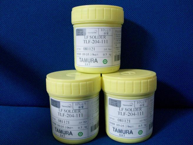 TAMURA无铅锡膏TLF-204-111,TAMURA有铅锡膏