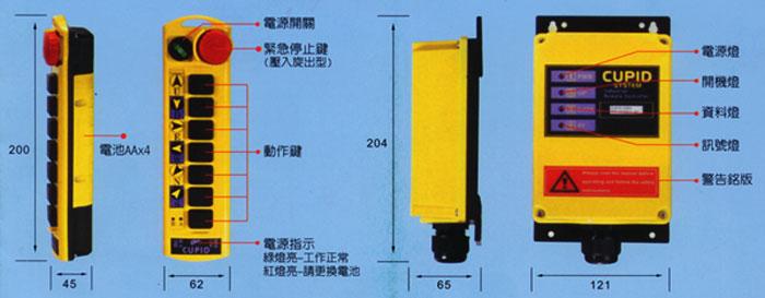 台湾邱比特工业无线遥控器