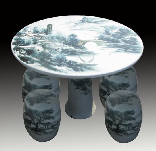 景德镇窑盛陶瓷户外家居瓷桌瓷凳 园林休闲用品陶瓷 桌凳