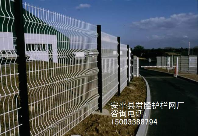 唐山桃型柱护栏网,承德市政护栏网,包头高速路口护栏网,小区护栏网