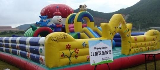 广州信成气模厂供应城堡充气跳床充气攀岩充气滑梯租售