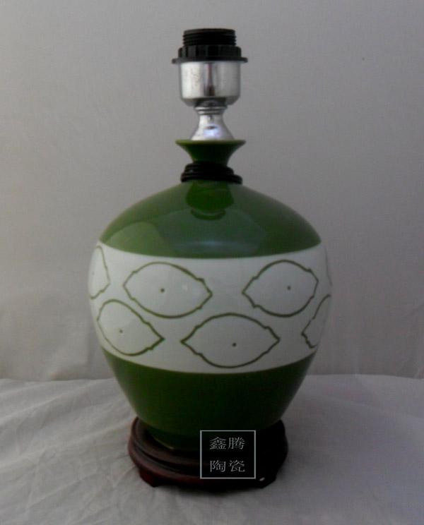 中国红赏灯,陶瓷灯具,家居装饰灯具,落地灯