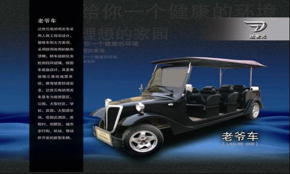 浙江达世元专业生产8座电动老爷车
