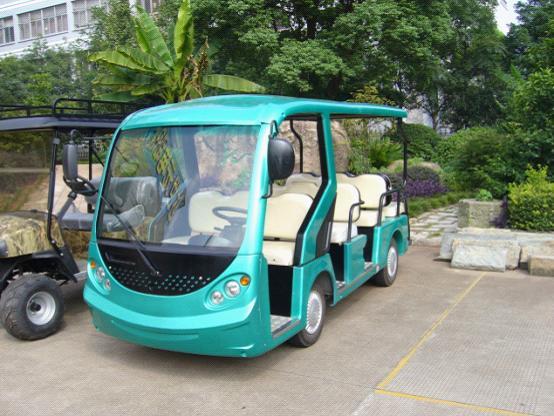 达世元专业生产12座电动观光车
