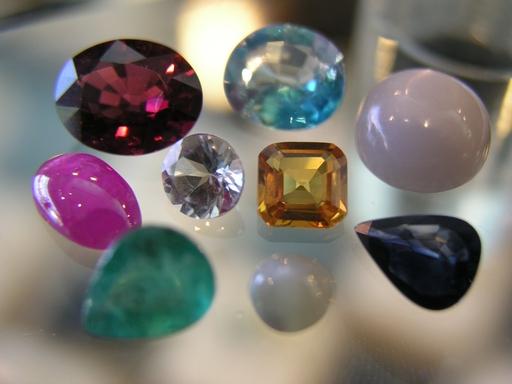 长方正方锆石 人造宝石 珠宝 宝石工艺品 黑锆裸石