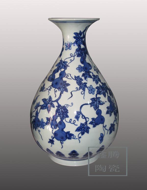 青花瓷瓶,礼品花瓶