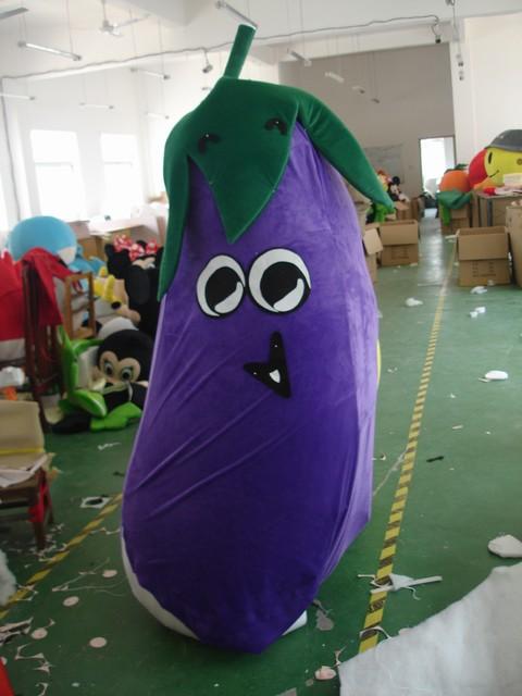 上海人偶服装定做,卡通道具,蔬菜水果服装,茄子