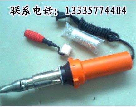 焊枪使用方法、热熔垫片焊机、隧道修补用热风焊枪