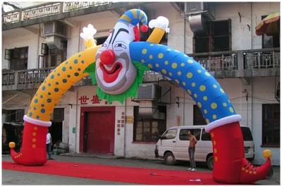小丑拱门 广告拱门 造型气球 彩球  帐篷拱门