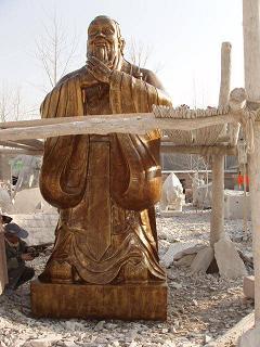 石雕孔子像,孔子行教像,孔子标准像等校园雕塑