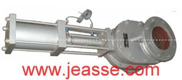 出料阀、钟罩阀、气动出料阀、耐磨陶瓷出料阀、气动双闸板阀