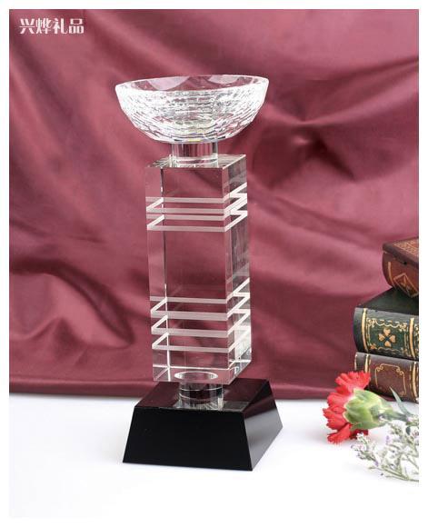公司评选活动奖杯、广州年终活动奖品、广州水晶奖杯制作厂