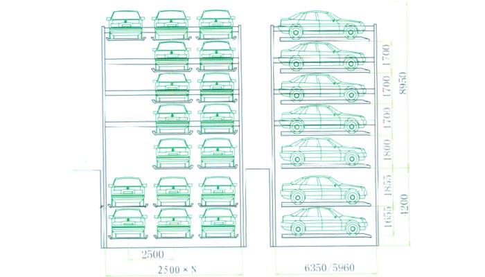 组合型升降横移类机械式停车设备