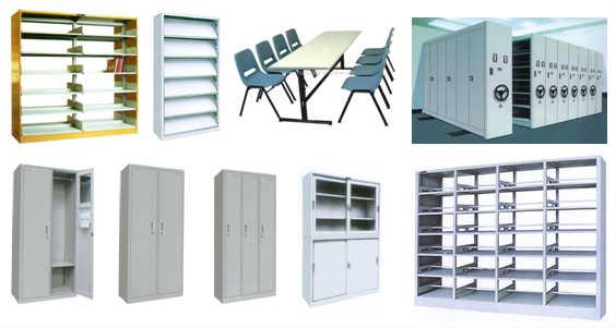 书架,期刊架,阅览桌椅,密集柜,文件柜