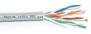 香港安普康超五类非屏蔽网线 ampcom网线质量媲美安普网线