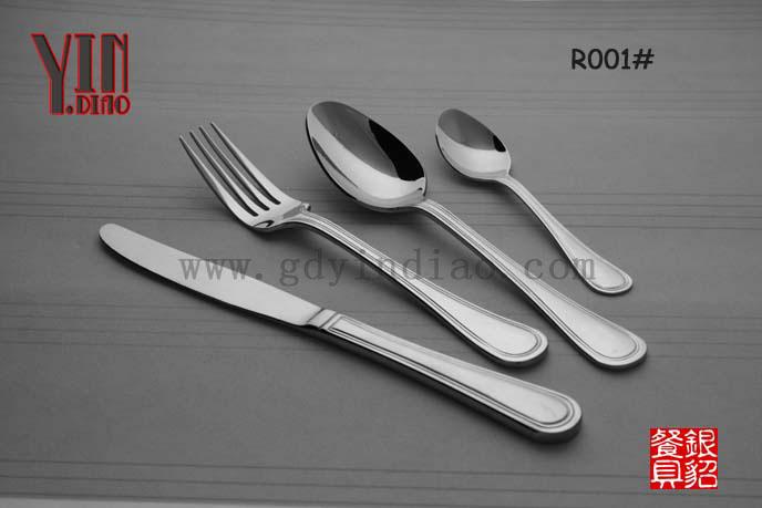 R001 温莎出口热销:不锈钢西餐具 刀叉勺 茶勺