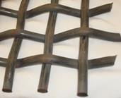 黑钢轧花网