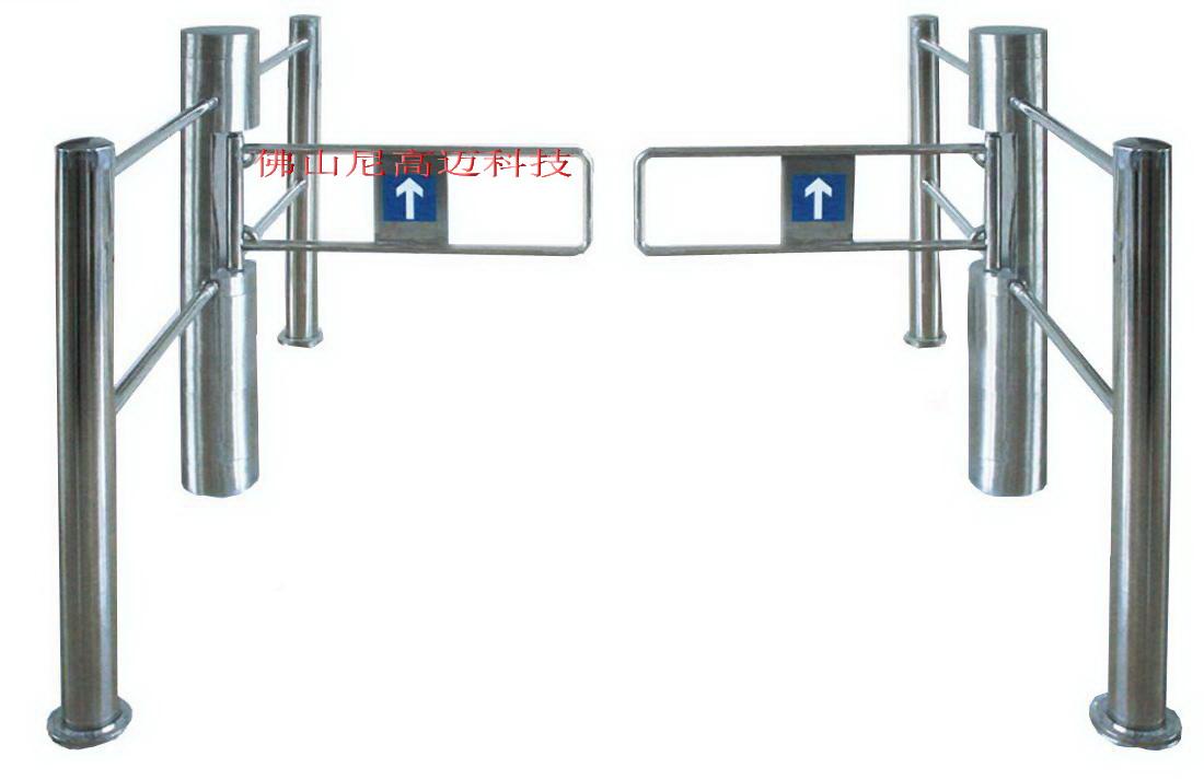 不锈钢圆柱护栏摆闸-超市入口单向自动闸门-NGM护栏型摆闸批发价