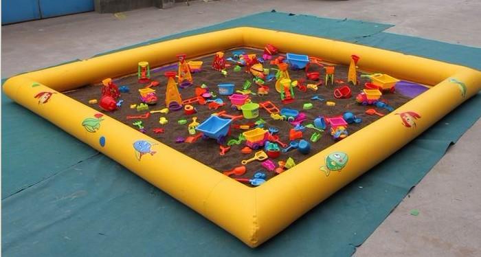 儿童充气沙滩池 决明子 沙滩玩具 新型充气城堡