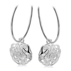 韩版时尚耳环淘宝热卖韩国女夸张 玫瑰花朵复古饰品 耳饰-玫瑰寄语