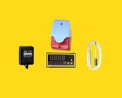 鸣笛闪光型温度报警器,声光温度报警器