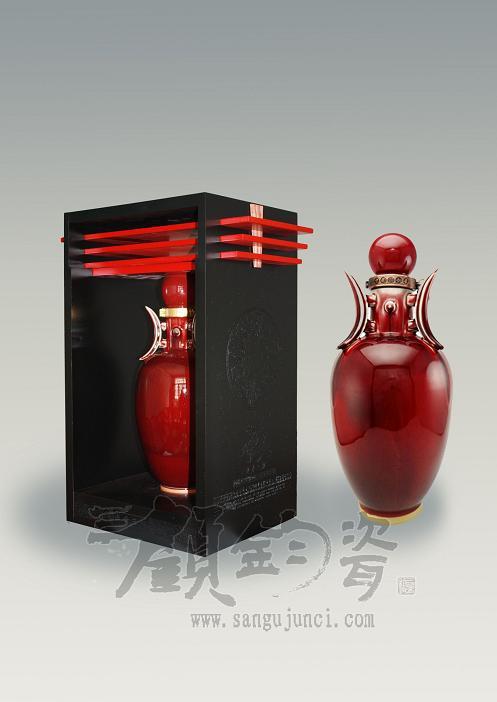 新入的高档陶瓷酒瓶,河南陶瓷酒瓶厂,对景德镇陶瓷酒瓶形成挑战