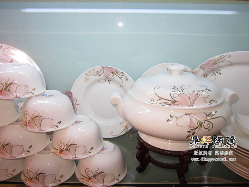 陶瓷餐具厂家批发定做 骨质瓷白瓷餐具56头件套装
