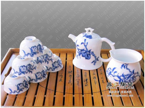 景德镇陶瓷茶具 手绘青花瓷功夫茶具套装 手工艺日用瓷