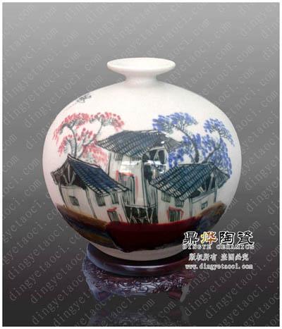 景德镇珍珠釉陶瓷花瓶 大型活动纪念礼品 家居工艺礼品摆设