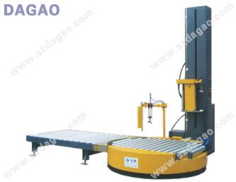 在线滚筒式全自动DG2100缠绕包装机,深圳达高科技厂家直销!