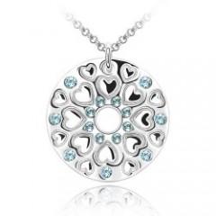 K009-38奥地利元素水晶—花之嫣然-平安扣项链