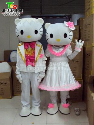 供应KT猫卡通人偶服装、毛绒玩偶卡通服饰
