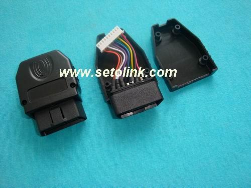 GPS定位仪OBD连接线,OBDII汽车插头线