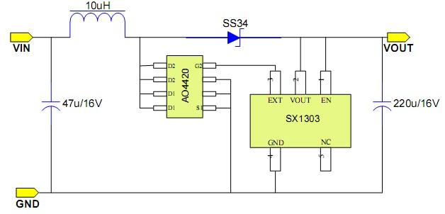 小封装(SOT23-5)高效率大电流升压IC