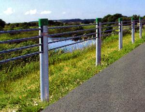 缆索护栏,钢丝绳景区护栏