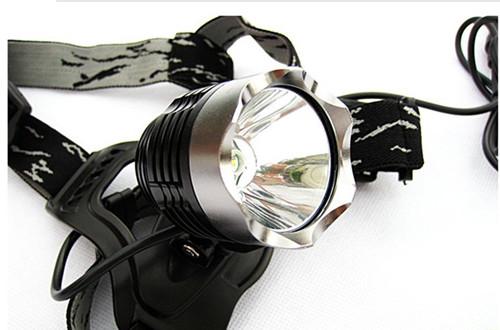 头灯+自行车灯 两用 1200LM 捕鱼灯 狩猎灯 工作灯最亮T