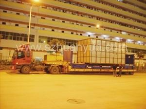 赤湾大铲湾蛇口盐田港码头超宽超高特种柜平板柜框架柜拖车运输