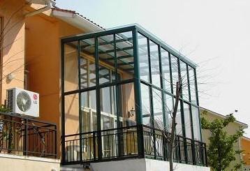 广州平开窗单层钢化玻璃铝合金门窗有框阳台推拉窗封阳台