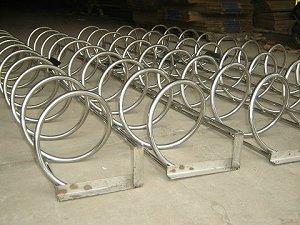 不锈钢自行车锁车架 圆笼自行车锁车架 自行车锁车架生产厂家