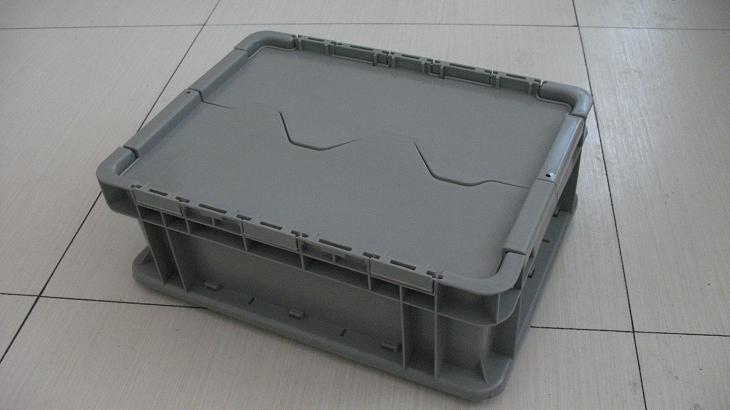 上海塑料周转箱ST-B带盖防尘防盗塑料物流箱上海
