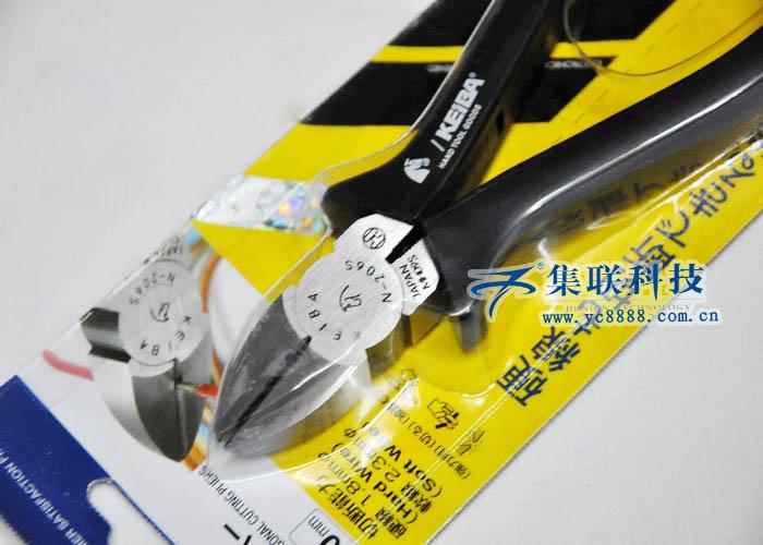 日本原装马牌N-206S电工斜嘴钳,马牌N-206S斜嘴钳