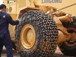 铲车保护链 各种型号轮胎防滑链报价