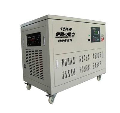 12kw燃气发电机组|静音发电机