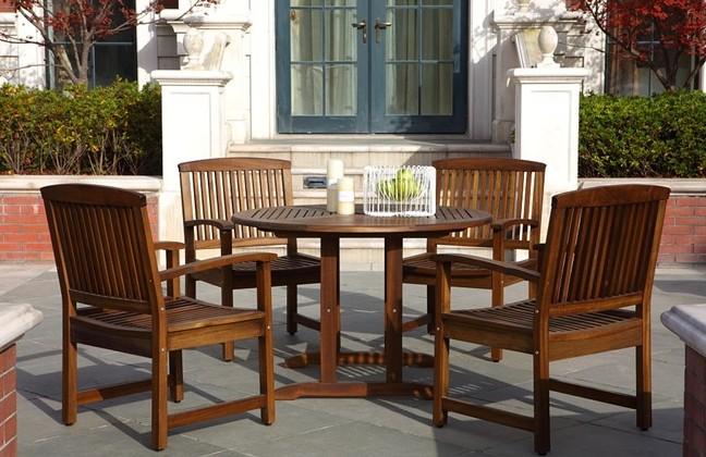 户外实木桌椅,木制家具